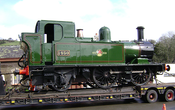 GWR 0-4-2T 1450 in fully lined late BR livery