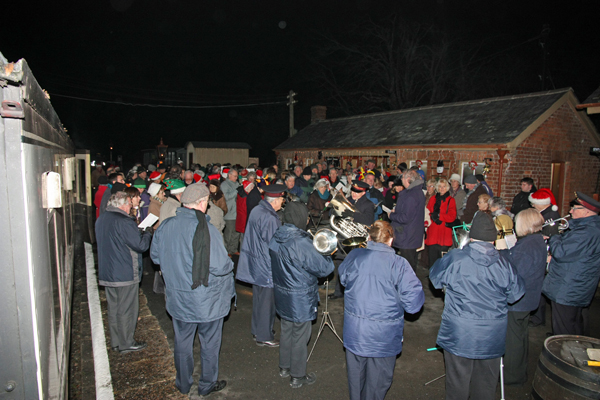 Carol singers at Staverton
